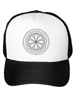 Sapca personalizata Mandala Alb Negru Alb