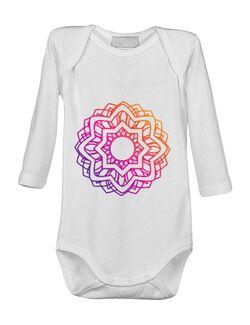 Baby body Mandala Mov Alb