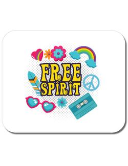 Mousepad personalizat Free Spirit Alb