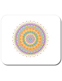 Mousepad personalizat Mandala Alb