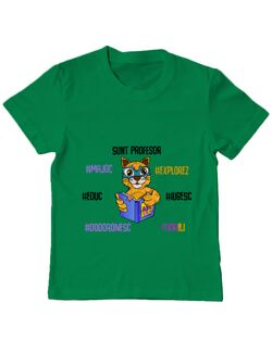 Tricou ADLER copil Sacoșa profesor Verde mediu