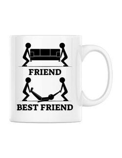 Cana personalizata Best friend Alb