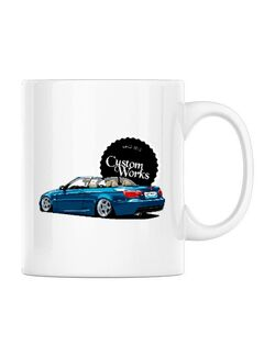 Cana personalizata BMW E93 Alb
