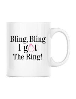Cana Mireasa Bling bling Alb