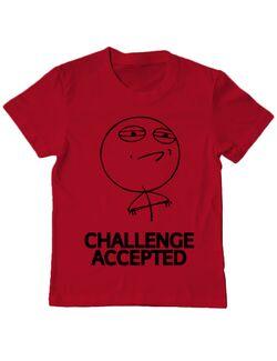 Tricou ADLER copil Challenge Accepted Rosu