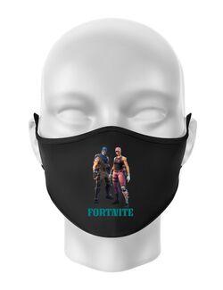 Masca personalizata reutilizabila FORTNITE Negru