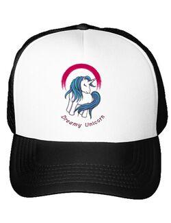 Sapca personalizata Dreamy Unicorn Alb