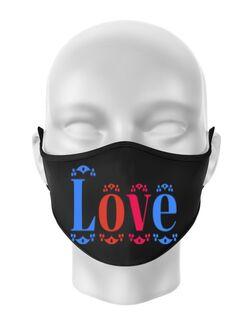 Masca personalizata reutilizabila Love Negru