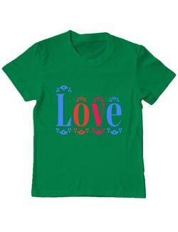 Tricou ADLER copil Love Verde mediu