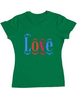 Tricou ADLER dama Love Verde mediu