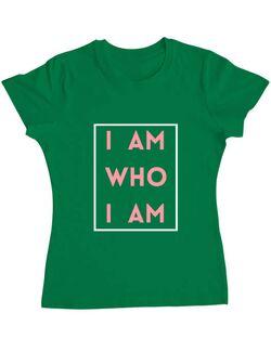 Tricou ADLER dama I Am Verde mediu