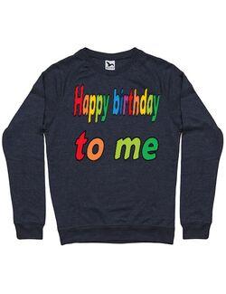 Bluza ADLER barbat Happy birthday to me Denim inchis