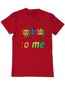 Tricou ADLER barbat Happy birthday to me Rosu
