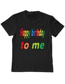 Tricou ADLER copil Happy birthday to me Negru