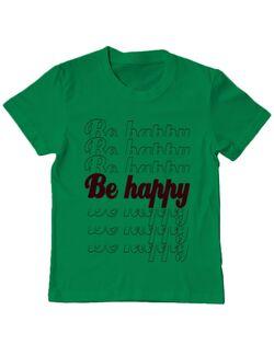 Tricou ADLER copil Be happy Verde mediu