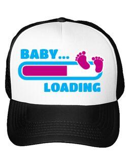 Sapca personalizata Baby loading Alb