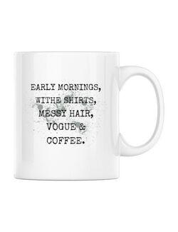 Cana personalizata Early mornings Alb