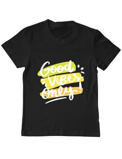 Tricou ADLER copil Good Vibes Only! Negru