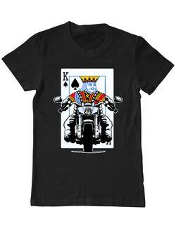 Tricou ADLER barbat Poker King Biker Negru