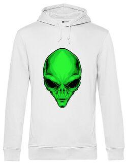 Hanorac barbat cu gluga Alien Head - Beyond Ideas Shop Alb