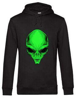 Hanorac barbat cu gluga Alien Head - Beyond Ideas Shop Negru