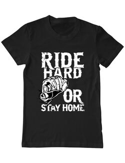 Tricou ADLER barbat Ride Hard or Stay Home Negru