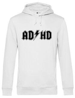Hanorac barbat cu gluga ADHD Alb