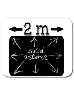 Mousepad personalizat Distanta sociala Alb