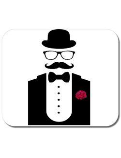 Mousepad personalizat Men in black Alb