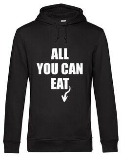 Hanorac barbat cu gluga All You Can Eat Negru