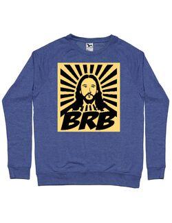 Bluza personalizata barbat BRB Jesus Albastru melanj