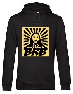 Hanorac barbat cu gluga BRB Jesus Negru