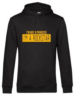 Hanorac barbat cu gluga I\'m not a Princess, I\'m a Rockstar Negru