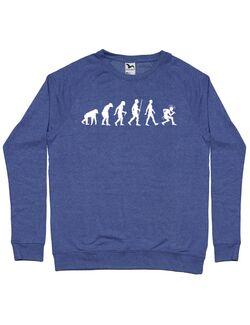 Bluza personalizata barbat Punkvolution Albastru melanj