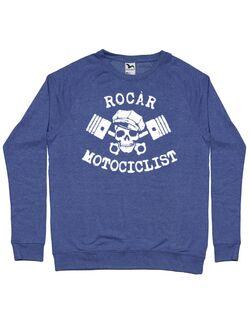 Bluza personalizata barbat Rocar Motociclist Albastru melanj
