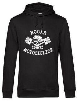 Hanorac barbat cu gluga Rocar Motociclist Negru