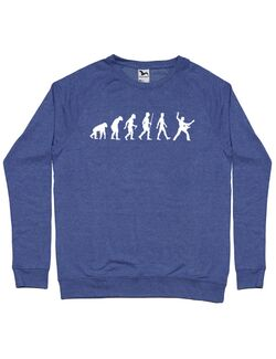 Bluza personalizata barbat RockVolution Roll Albastru melanj