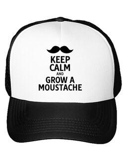 Sapca personalizata Grow a moustache Alb