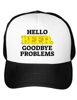 Sapca personalizata Hello beer Alb