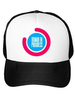 Sapca personalizata Human in progress Alb
