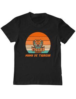 Tricou personalizat copil Mama de tigrisor Negru