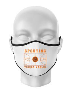 Masca personalizata reutilizabila Baschet Alb