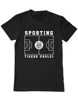 Tricou personalizat barbat Teren Fotbal 2 Negru