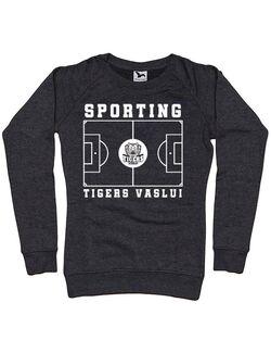 Bluza personalizata dama Teren Fotbal 2 Negru melanj