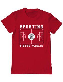 Tricou personalizat barbat Teren Fotbal 2 Rosu