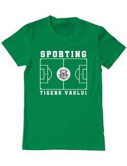 Tricou personalizat barbat Teren Fotbal 2 Verde mediu