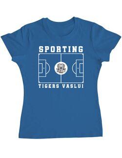 Tricou personalizat dama Teren Fotbal 2 Albastru azuriu
