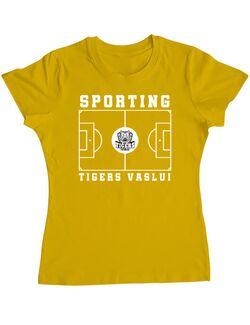 Tricou personalizat dama Teren Fotbal 2 Galben