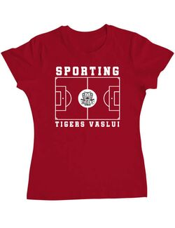 Tricou personalizat dama Teren Fotbal 2 Rosu