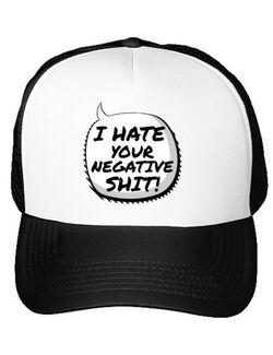 Sapca personalizata I hate your negative shit Alb